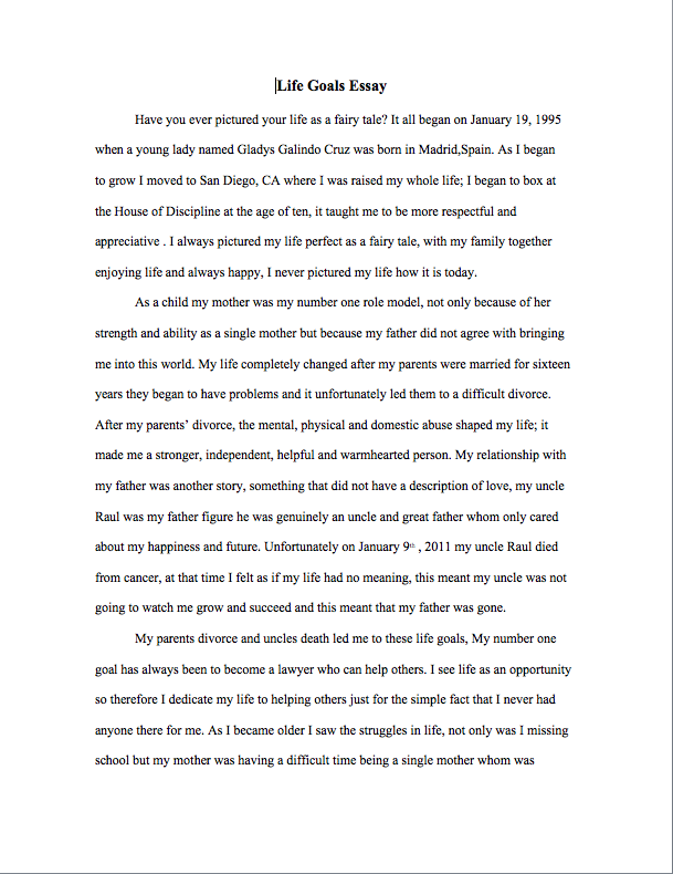 life goals essay co life goals essay